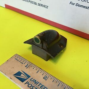 Vintage Car Indicator Light Fixture Green Lens Item 2629