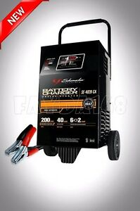 Car Booster Auto Battery Charger 6v 12v 200 Amp Power Jump Starter Heavy Wheeled