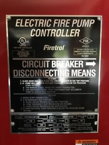 Firetrol Electric Fire Pump Controller Fta1000 am125b And Jockey Pump Controller