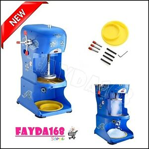 Ice Shaver Machine Snow Cone Maker Shaved Crusher Cool Electric Icee Commercial