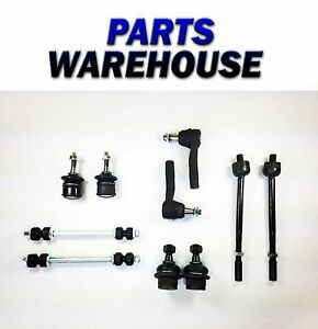 10pc Suspension Kit For Ford Explorer 2002 2003 Mercury Mountaineer Tie Rod Ends