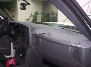 Chevrolet Pickup Truck 1995 1996 Carpet Dash Board Cover Mat Charcoal Grey