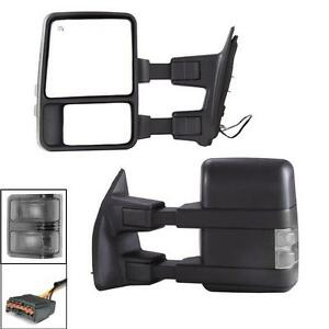 Turn Signals Power Heated For 99 07 Ford F250 F550 Super Duty Towing Mirrors