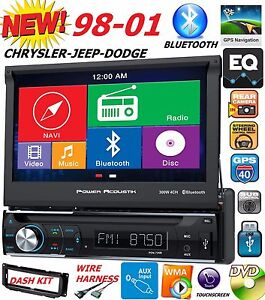 98 99 00 01 Chrysler Jeep Dodge 7 Navigation Cd Dvd Bluetooth Car Radio Stereo