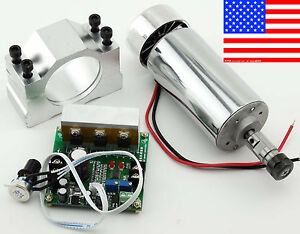 Cnc Router 0 4kw Air Cooling Spindle Motor Er11 Mach3 Pwm Controller Mount