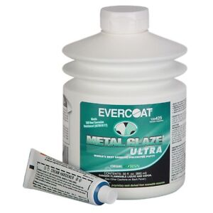Evercoat Metal Glaze Ultra Finishing Putty 30 Oz Made In Usa Me 425