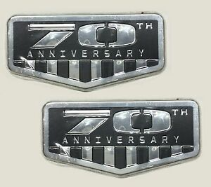 X2 Grey 70th Anniversary Emblem Replace Oem Mopar Jeep Grand Cherokee Wrangler