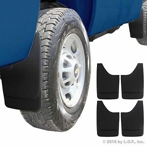 Mud Flaps Universal Mud Guards Splash Guards Molded Pair For Front And Rear 4pc