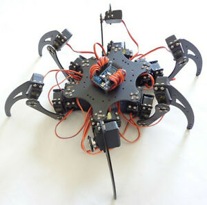 18dof Hexapod Robotic Spider Six Legs Frame Kit No Remote Controller F17328