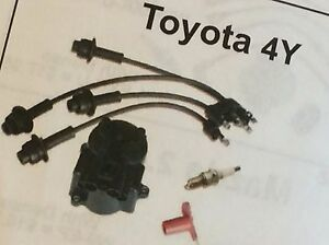 Toyota Forklift 4y Engine Tune Up Kit Parts Wires Cap Rotor Plugs Sy86803