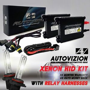 Autovizion Xenon Lights Hid Kit Relay Harness H4 H10 H11 H13 9005 9006 9004 H3