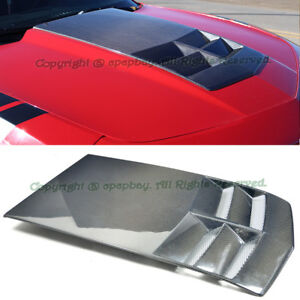 Fit 10 15 Chevy Camaro Zl1 Style Tl1 Heat Extractor Carbon Fiber Hood Insert