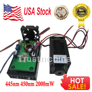 445nm 450nm 2000mw 2w Blue Laser Module Ttl For Cnc Cutter Engraving Machine