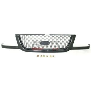 Fits 2001 2003 Ford Ranger 3l5z8200ba Front Grille Black With Silver Mesh