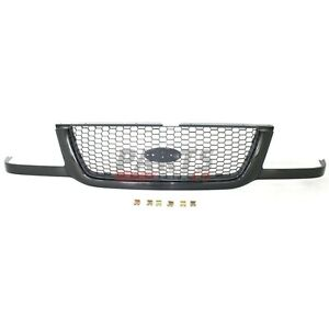New Grille Black With Silver Mesh Fits 2001 2003 Ford Ranger 3l5z8200ba