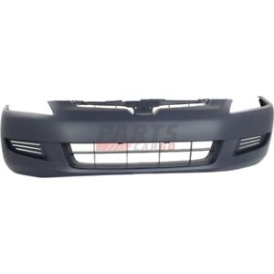 New Front Bumper Cover Primed Fits 2003 2005 Honda Accord Coupe 04711sdna90zz