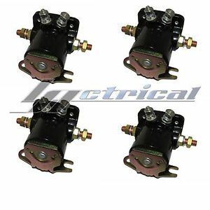 Four 4 New Winch Solenoids Solenoid Relay Fits Early Warn Models Xd9000i 9 5ti