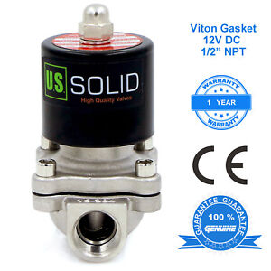 U S Solid 1 2 Stainless Steel Electric Solenoid Valve 12v Dc Normally Closed