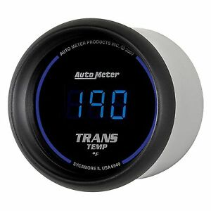 Auto Meter Z Series 2 1 16 Digital Transmission Temp Gauge 0 300 Deg F 52mm