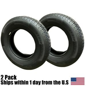 2 205 75r15 Radial Landscape Trailer Tires 6 Ply 2057515 205 75 15 R15 C Ratin