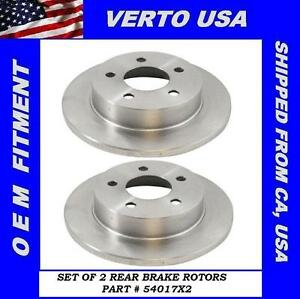 Rear Brake Rotors For Ford Mustang 1994 1995 1996 1997 1998 1999 2000 To 2004