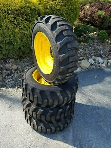 4 27x8 50 15 Skid Steer Tires wheels rims 27x8 5 15 for Bobcat