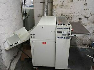 Graphic Whizard Uv Coater Model Xdc 530 Xdc530