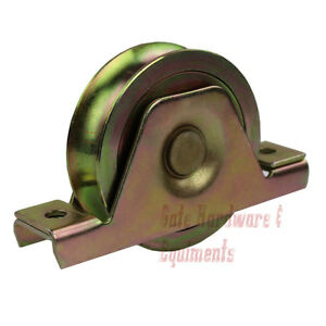 10 Pack 3 1 2 Sliding Gate Track Groove Wheel Bearing With Bracket Gold Color