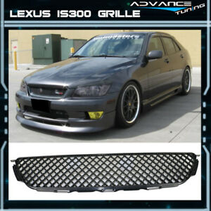 Fits 01 05 Lexus Is300 Front Upper Hood Mesh Grille Grill Black Abs