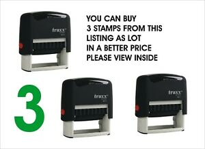 Traxx Self Inking Stamp Office Word Note Messages Business Personal 35x14mm