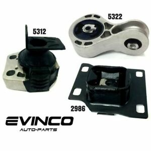 New 2008 2011 Ford Focus 2 0l Dohc Engine Trans Motor Mount Set With Automatic