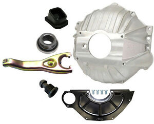 New Chevy Bellhousing Kit Cover Clutch Fork Throwout Bearing Gm 11 3899621 Oem