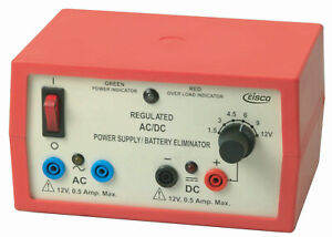 Ac dc Regulated Power Supply 2 Independent Outputs 6 Voltages Up To 12v 500ma