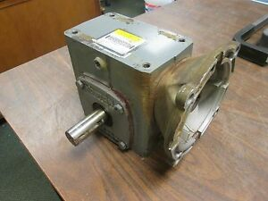 Boston Gear Reducer F72115b7g Ratio 15 1 1 4 Hp In 646 Lb in Torque Out Used