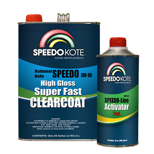 Mobile Refinish Clear Coat High Gloss Super Fast Clearcoat Gallon Kit Smr 105 60