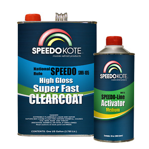 Mobile Refinish Clear Coat High Gloss Super Fast Clearcoat Gallon Kit Smr 105 75