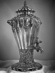 A Gorham Arts Beaux Sterling Silver Sample Hot Water Urn 1893 Columbian Expo