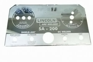Lincoln Sa 200 Blackface Mirrored Stainless Steel Faceplate L5171 Bw135