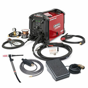 Lincoln Power Mig 210 Mp Multi process Welder Tig One pak K4195 2