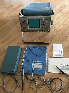 Tektronix 465 100mhz Two Channel Oscilloscope Probes Manual Cover Power Cord