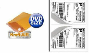 dvd Bubble Mailers Padded Envelopes 6 5 X 9 250ct 200 Self Stick Labels Usa
