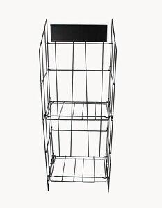 Wire Magazine Rack Metail Newspaper Display Wire Literature Stand Catalog Stand