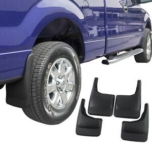 Fits Ford F150 Mud Flaps 2004 14 Mud Guards Splash Molded 4 Piece Front And Rear