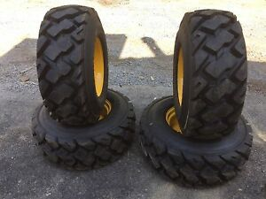 4 14 17 5 Carlisle Ultra Guard Mx Skid Steer Tires Wheels rims For New Holland