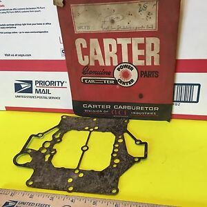Studebaker Carter Carburetor Mount Gasket 121 281 Nos Item 3556