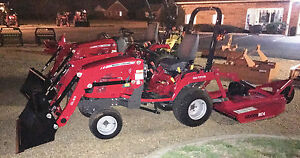 New 22 Hp 4wd Package Massey Ferguson Gc1705 Loader Rotary Cutter Bush Hog 48