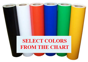 5rolls Pack 24 x10ft Semi Gloss Sign Vinyl 6yr Outdoor For Signs decals 34colors