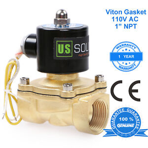 U s Solid 1 Brass Electric Solenoid Valve 110 V Ac Normally Closed Air Water