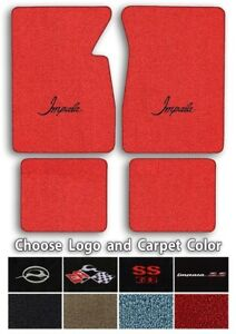 Chevrolet Impala Logo Loop Carpet Floor Mats Choose Mat Color And Logo