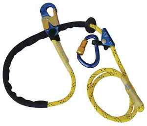 Dbi Sala 1234071 Pole Climber s Adjustable Rope Positioning Lanyard 8 Ft